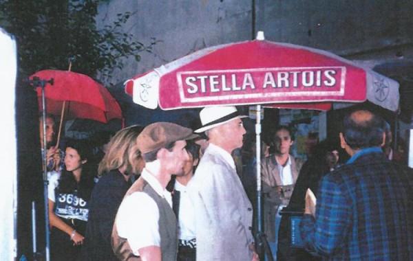 Avec Paul Newman sur un tournage