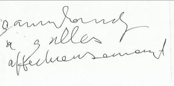 Dédicace Serge Gainsbourg